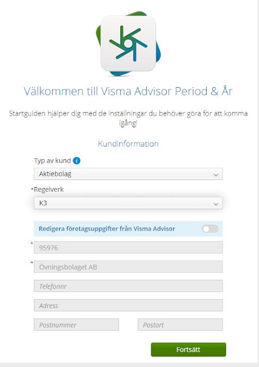 Startguiden i Visma Advisor Period & År