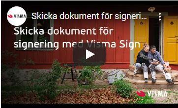 Skicka dokument för signering med Visma Sign