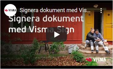 Signera dokument med Visma Sign
